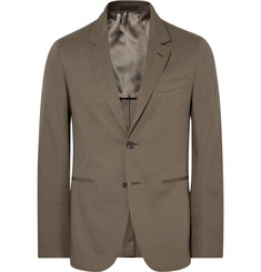 Caruso - Brown Butterfly Slim-Fit Unstructured Stretch-Cotton Suit Jacket