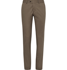 Caruso Brown Slim-Fit Stretch-Cotton Suit Trousers