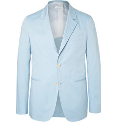 Caruso - Blue Slim-Fit Stretch-Cotton Suit Jacket