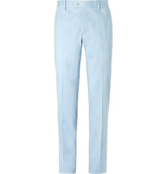 Caruso - Blue Slim-Fit Stretch-Cotton Suit Trousers