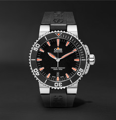 Oris Aquis Date Stainless Steel and Rubber Divers Watch
