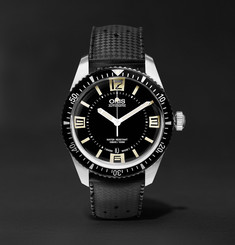 Oris Divers Sixty-Five 40mm Stainless Steel and Rubber Watch, Ref. No. 73377074064TS