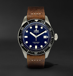 Oris Divers Heritage 65 42mm Stainless Steel and Suede Automatic Watch