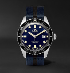 Oris - Divers Sixty-Five 42mm Stainless Steel and Canvas Watch