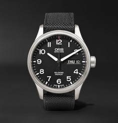 Oris - Big Crown ProPilot Day-Date 45mm Stainless Steel and Canvas Watch