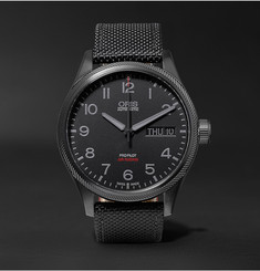 Oris Air Racing Edition V 45mm Stainless Steel and Leather Watch