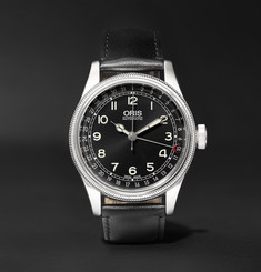 Oris Big Crown Original Pointer Date 40mm Stainless Steel and Leather Watch, Ref. No. 01 754 7696 4064-07
