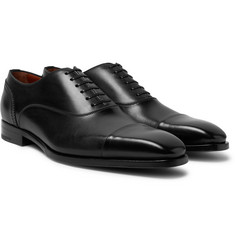 Ermenegildo Zegna - Cap-Toe Polished-Leather Oxford Shoes