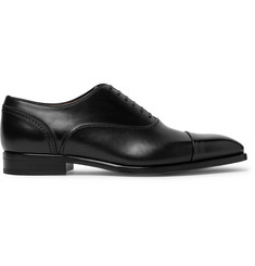 Ermenegildo Zegna Cap-Toe Polished-Leather Oxford Shoes
