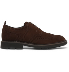 Tod's Suede Wingtip Derby Shoes
