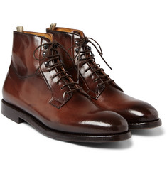Officine Creative - Herve Burnished-Leather Boots