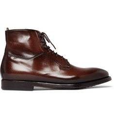 Officine Creative Herve Burnished-Leather Boots