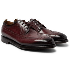 Officine Creative - Herve Burnished-Leather Wingtip Brogues