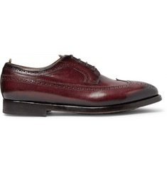 Officine Creative Herve Burnished-Leather Wingtip Brogues