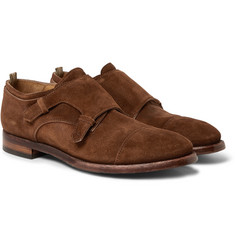 Officine Creative - Princeton Suede Monk-Strap Shoes