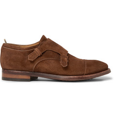 Officine Creative Princeton Suede Monk-Strap Shoes