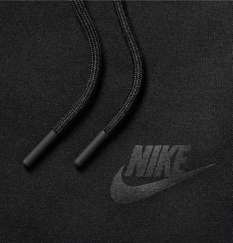 NIKE Cotton-Blend Tech Fleece Shorts in Black