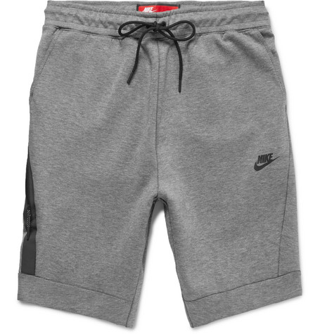 c58fa2178ccc Nike MÉLange Cotton-Blend Tech Fleece Shorts - Gray In Light Gray ...