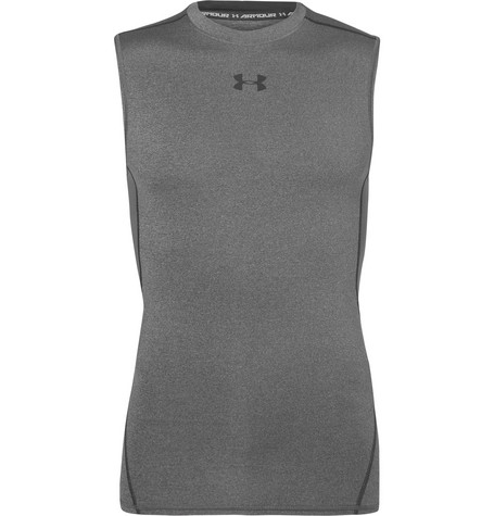 Under Armour Heatgear Stretch-Jersey Tank Top In Gray