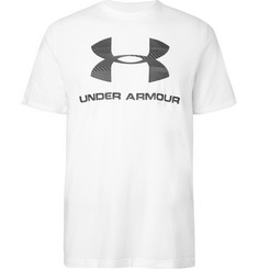 Under Armour Printed Stretch Cotton-Blend T-Shirt