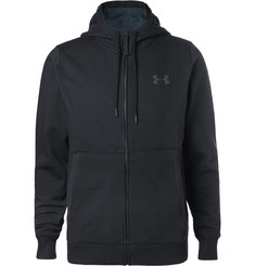 Under Armour Threadborne Fleece-Back Stretch Cotton-Blend Jersey Zip-Up Hoodie