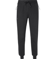Under Armour Threadborne Fleece-Back Cotton-Blend Jersey Sweatpants