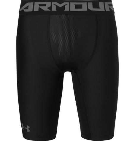 Under Armour Heatgear 2.0 Compression Shorts In Black