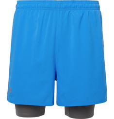 Under Armour - Qualifier 2-in-1 Shell and Stretch-Jersey Shorts