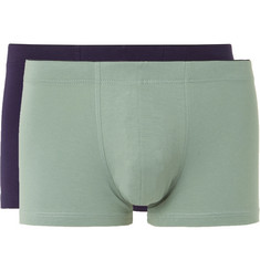 Sunspel Two-Pack Stretch-Cotton Jersey Boxer Briefs