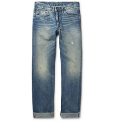 Levi's Vintage Clothing 1954 501 Slim-Fit Distressed Selvedge Denim Jeans
