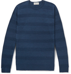 John Smedley Coplow Striped Merino Wool Sweater