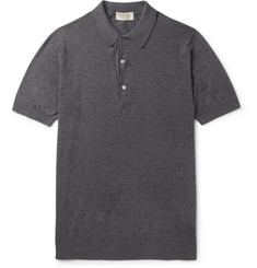 John Smedley Haddon Cotton and Cashmere-Blend Polo Shirt