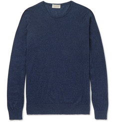 John Smedley Theon Sea Island Cotton and Cashmere-Blend Sweater