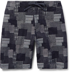 Freemans Sporting Club - Emmett Slim-Fit Patchwork Cotton-Jacquard Shorts