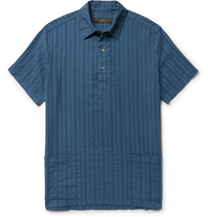 Freemans Sporting Club - Embroidered Cotton-Gauze Shirt