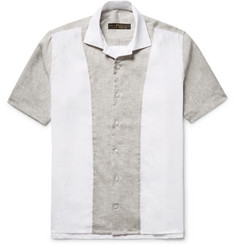 Freemans Sporting Club Panelled Linen Shirt