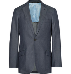 Richard James Blue Slim-Fit Denim Suit Jacket