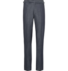 Richard James Blue Slim-Fit Denim Suit Trousers