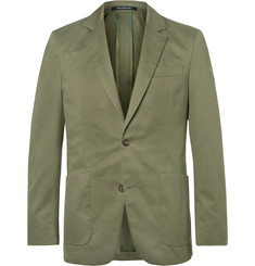 Richard James Green Slim-Fit Cotton-Twill Suit Jacket
