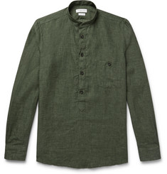 Richard James Grandad-Collar Linen Shirt