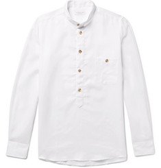 Richard James Slim-Fit Grandad-Collar Linen Shirt