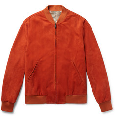 Richard James Slim-Fit Suede Bomber Jacket
