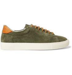 Richard James Paragon Leather-Trimmed Suede Sneakers