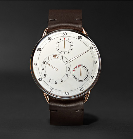 Type 1 Mrp 42mm Rose Gold, Titanium And Leather Watch by Ressence