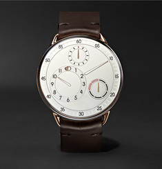 Ressence - Type 1 MRP 42mm Rose Gold, Titanium and Leather Watch