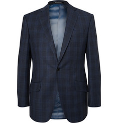 Richard James - Blue Hyde Slim-Fit Checked Wool Suit Jacket