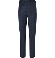 Richard James - Blue Hyde Checked Wool Suit Trousers
