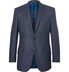 Richard James Blue Hyde Slim-Fit Wool-Hopsack Blazer