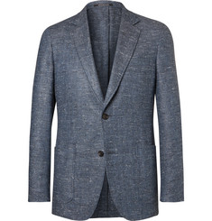 Richard James - Blue Slim-Fit Slub Silk, Wool and Cashmere-Blend Blazer