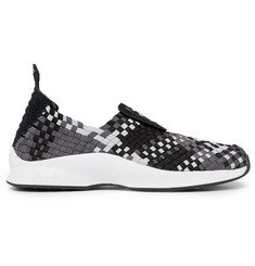 Nike Air Woven Faux Suede-Trimmed Sneakers